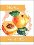 Apricot Fruit Wine Labels