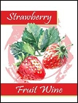 Strawberry Fruit Wine Labels