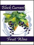 Black Currant Fruit Wine Labels