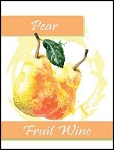 Pear Fruit Wine Labels