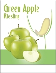 Green Apple Riesling Wine Labels
