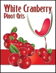 White Cranberry Wine Labels