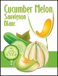 Cucumber Melon Wine Label
