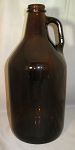 Amber 1/2 Gallon Glass Jug