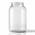 Clear One Gallon Wide Mouth Glass Jug