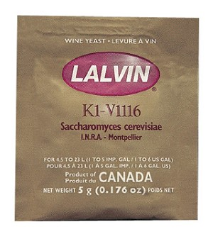 Lalvin K1V-1116 Active Freeze-Dried Wine Yeast